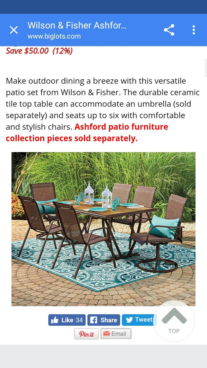 Download Wallpaper Wilson Fisher Ashford Patio Furniture Collection