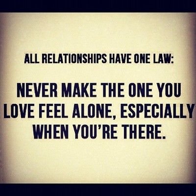 SO true!! One law: never feel alone