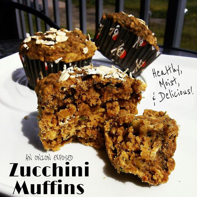 Healthy Zucchini Muffins! Zero oil/butter and no refined sugar but still amazing! {An Onion Exposed}