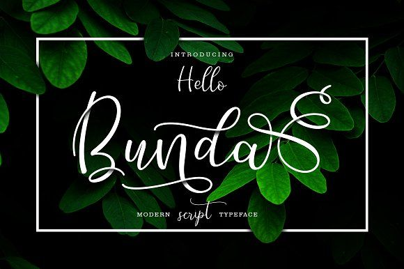 Hello Bunda Typeface by thirtypath on @creativemarket