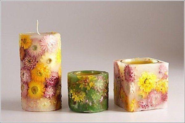 Делаем красивые свечи своими руками