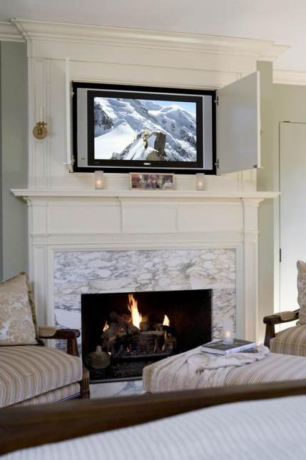Best 25 Hide Tv Over Fireplace Ideas On Pinterest Tv