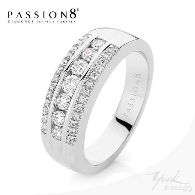 Stunning Passion8 Diamond wide dress ring. Perfect for that right hand sparkle! Now available at York Jewellers