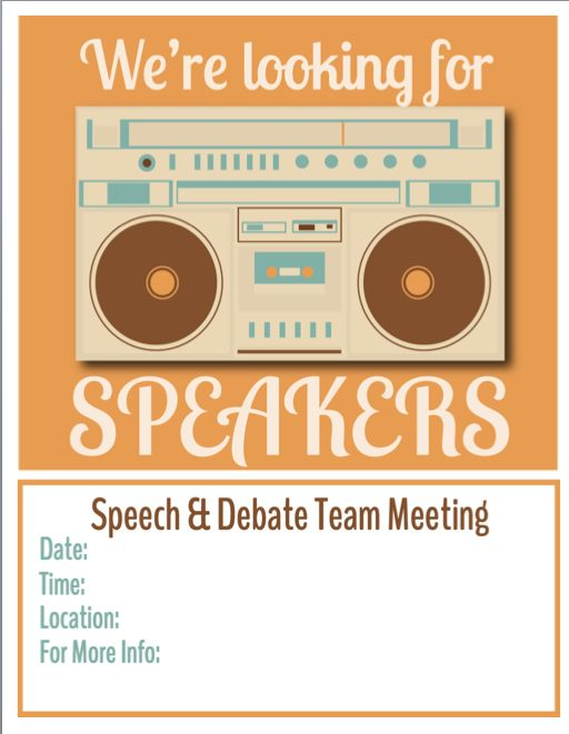 Get free flyers for your #speech and #debate team meetings at http://4n6.mobi/Vintage4n6.
