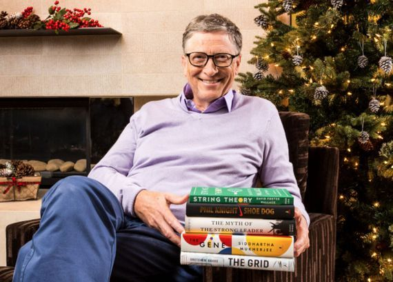Bill Gates blogs about his 5 favorite books of 2016     - CNET  Enlarge Image  Bill Gates poses with the 5 books hes recommending. Photo by                                            GatesNotes.com                                          Microsoft co-founder and Gates Foundation co-founder and co-chair Bill Gates fondly remembers reading through his parents set of World Book Encyclopedias in alphabetical order when he was a child (his company would later publish a digital encyclopedia…