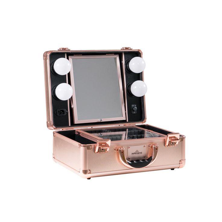SlayCase™ Vanity Travel Case in Rose Gold Bling