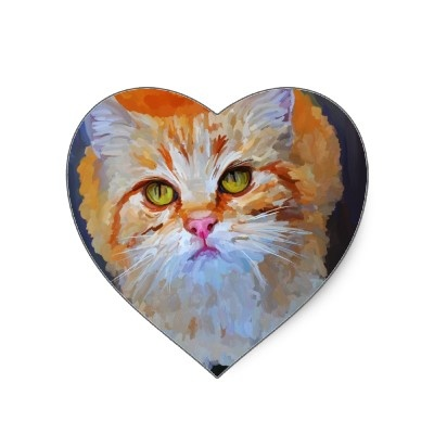 orange tabby cat stickers    sulky and lovely, just like Stinkerpuss