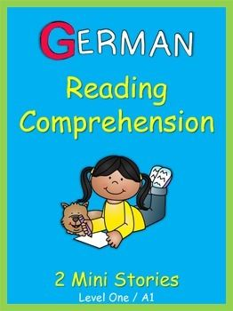 These+2+ready-to-go+German+Mini+Stories+with+comprehension+questions+are+a+sample+of++German+Reading+Comprehension+.+They+will+help+to+build+your+students+vocabulary+skills+and+reading+fluency+in+German.+The+goal+of+these+worksheets+is+to+introduce+basic+German+vocabulary+in+context+without+the+stress+of+mastering+complex+grammar+structures.Each+reading+passage+consists+of+3+sentences+followed+by+3+comprehension+questions.