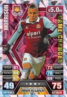 Match Attax Extra 2013/14 - Ravel Morrison (Game Changer)