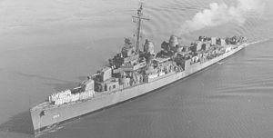 USS Izard (DD-589) A Fletcher-class destroyer named for Lieutenant Ralph Izard, 1785-1822.