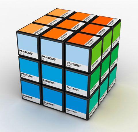 packaging design   pantone rubiks cube