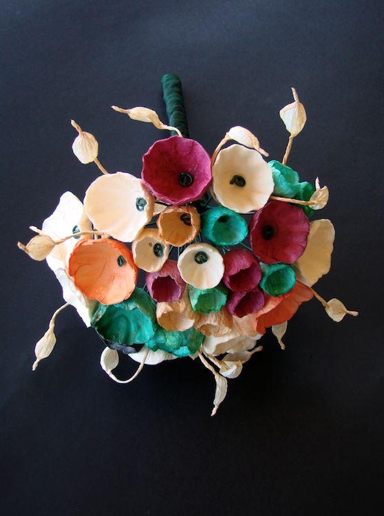 fiori di carta-fiori-carta-matrimonio-eco-friendly-boho-paper bouquet-wedding-green