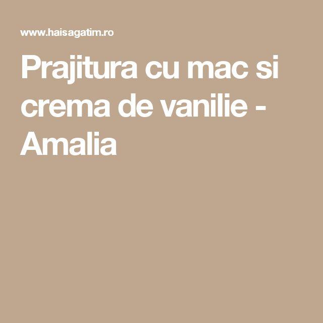 Prajitura cu mac si crema de vanilie - Amalia