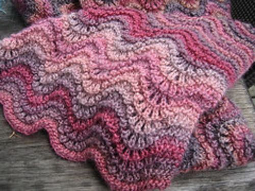 Ravelry Feather And Fan Stitch Or Old Shale Pattern By