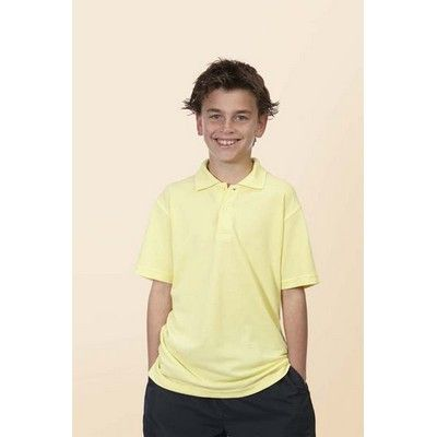 Promotional Kiddies Short Sleeve 210g Polo Min 25 - 65/35 Poly Combed Cotton, Design Comfort Fit, 210grm Pique Fabric. #CheapPoloShirts #PoloShirts #PromotionalProducts #PromotionalPoloShirts