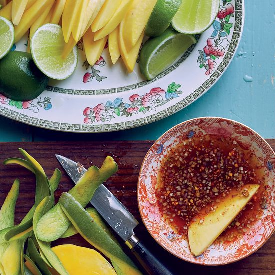 Green Mango with Dipping Sauce (Mak Muang Som Klub Jaew Wan) Recipe - James Syhabout | Food & Wine