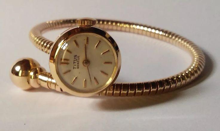 Pulseira Relógio Ouro Rosa 18k 18,6 Grs Vintage 17 Rubis - R$ 6.400,00 em Mercado Livre
