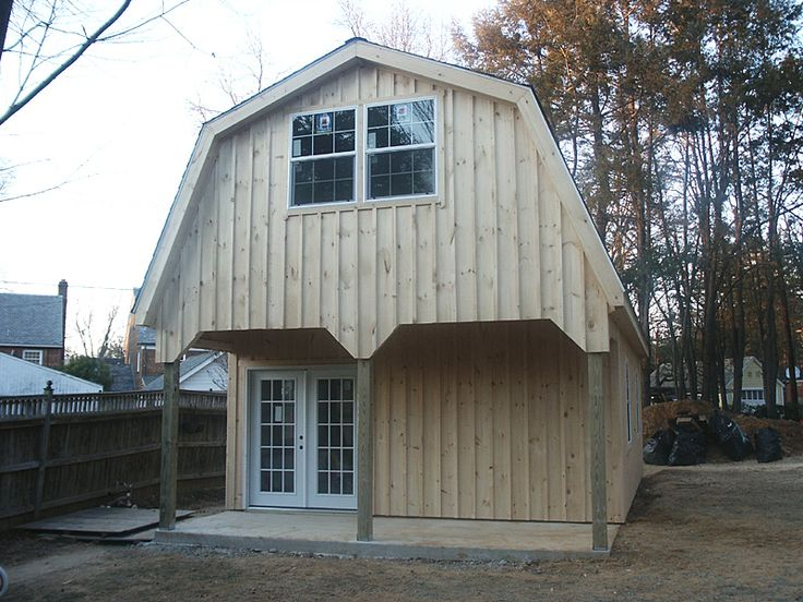 Best Garage With Gambrel Style Roof Farming Pinterest 400 x 300