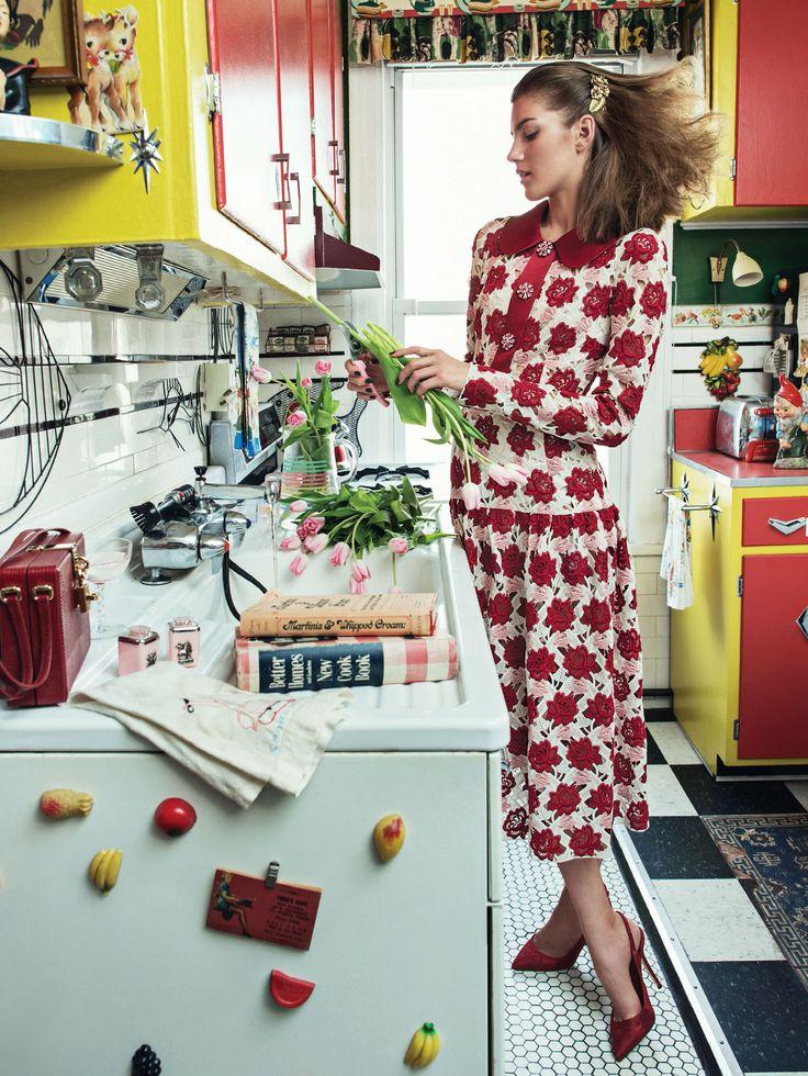 Valery Kaufman by Sebastian Kim for Allure October 2015 - Dolce&Gabbana Fall 2015
