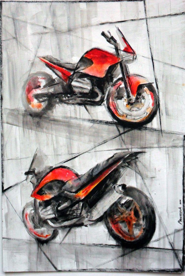 Acrylic-color, moto, #motoart, #bmw, #moto_painting, honda, hand_drawing, bmw r1150