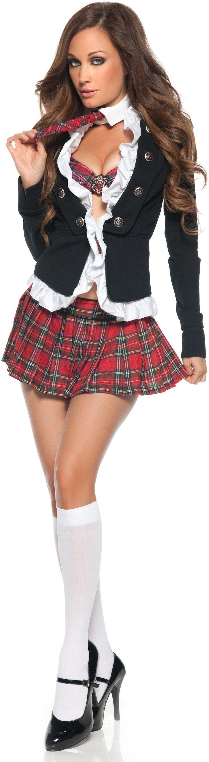Prep school girl outfit-4216
