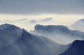 煙, 火災, 山Absarokas, イエローストーン国立公園