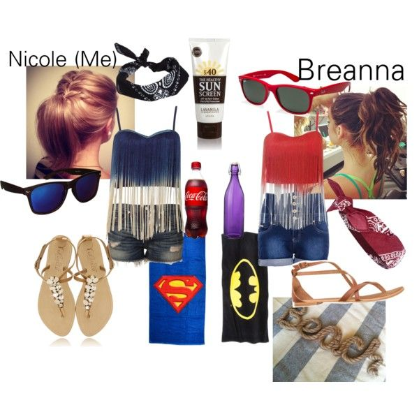 """Breanna and I at the Beach"" by nmdillon on Polyvore"