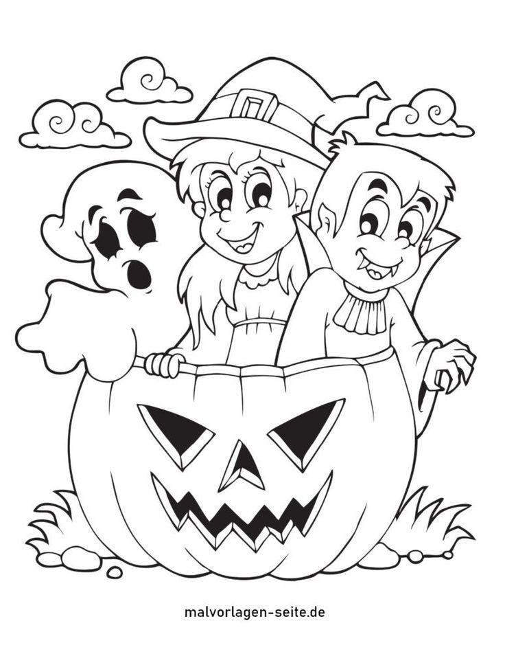 ausmalbilder halloween in 2020  malvorlagen halloween