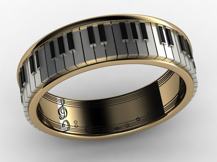piano musical note ring