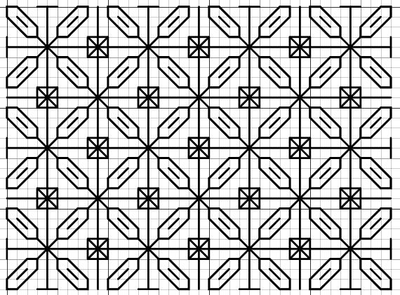 357 best Cross Stitch -- Blackwork #2 images on Pinterest - cross stitch graph paper