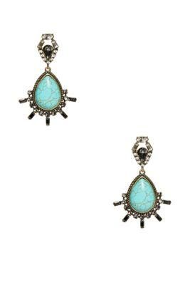Genuine Turquoise Statement Earrings | GUESS.com