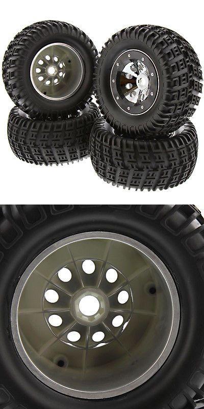 Wheels Tires Rims and Hubs 182201: Thunder Tiger K-Rock Mt4 G5 *Mta4-V2 Tires, Chrome Wheels, Black Beadlocks *17Mm -> BUY IT NOW ONLY: $59.99 on eBay!