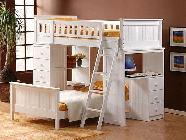 Loft Beds With Desks Underneath 30 Design Ideas With Enigmatic Touch Bunk Bed With Desk Cool Bunk Beds Bunk Bed Sets