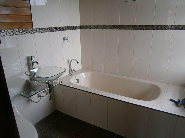 Bañera en segundo nivel de casa de madera construexpress