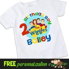 The Wiggles inspired birthday Tshirt Shirt by swingNmonkeez