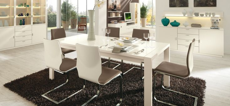 Dining Room Ideas:Simple Color In Dining Furnish Never Be Bored 30 Contemporary Dining Rooms