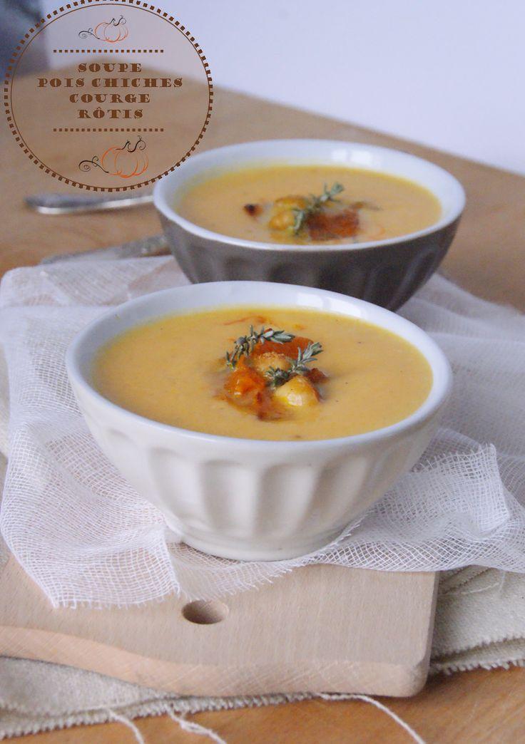 Mes petites fiches cuisine...: Soupe de pois chiches et courge rôtis