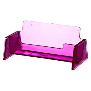 J.Burrows Business Card Holder Tinted Pink