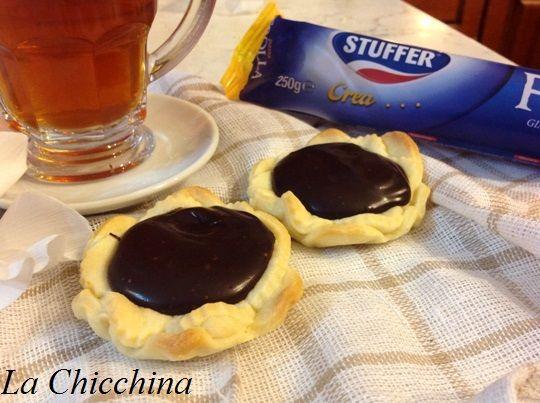 La Chicchina: Crostatine con marmellata di arance e ganache al c...