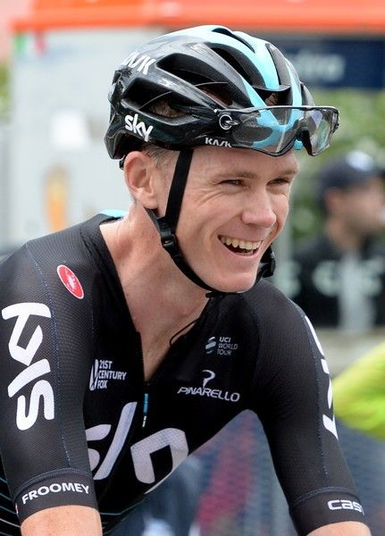 Three-time Tour de France winner Britain's Chris Froome of Team Sky smiles as he takes part in stage four of the 2017 Herald Sun Tour cycling race in Melbourne on February 5, 2017. / AFP / Mal Fairclough / --IMAGE RESTRICTED TO EDITORIAL USE - STRICTLY NO COMMERCIAL USE--