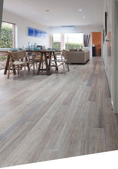 Embelton Bamboo Flooring 'Beach House'  Like the light color, the slight variation in colors, and the rough-looking (read: not shiny) finish