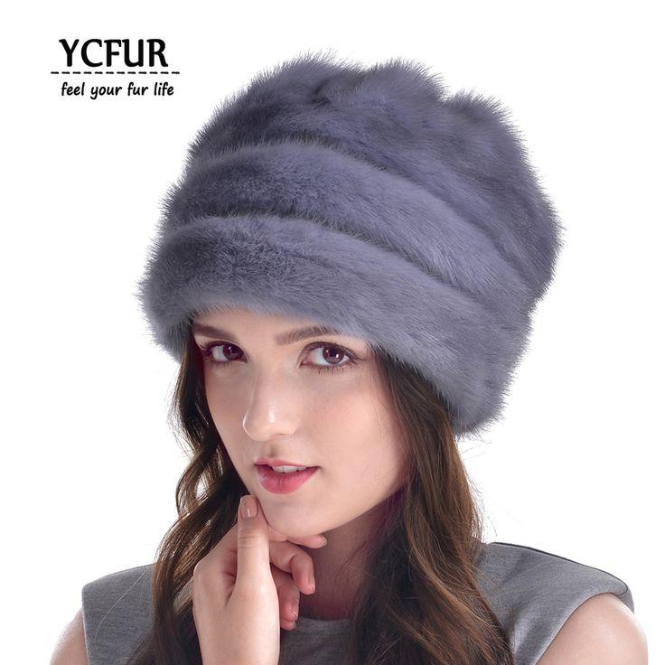 >> Click to Buy << YCFUR Brand Design 2016 Winer Fur Hats Women Genuine Mink Fur Caps With Fur Pom Poms Beanies Winter Whole Skin Mink Fur Hat #Affiliate