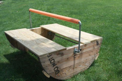 DIY Wooden Spool Project:  Kid's See-Saw - The Charming Farmer