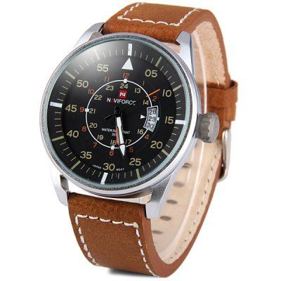Just US$9.35, buy Naviforce 9044 Military Style Men Japan Quartz Watch online shopping at GearBest.com Mobile.