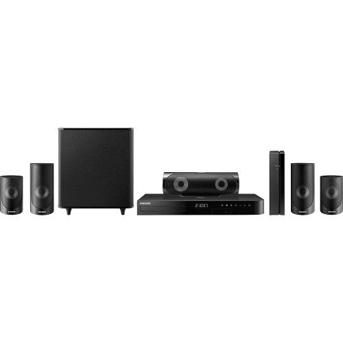 Samsung - 5 Series 1000W 5.1-Ch. 3D / Smart Blu-ray Home Theater System - Black - Front Zoom