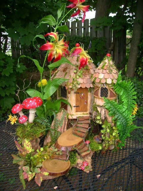 OOAK fairy house cottage dollhouse by J. McLaughlin by tyjulmere, $325.00