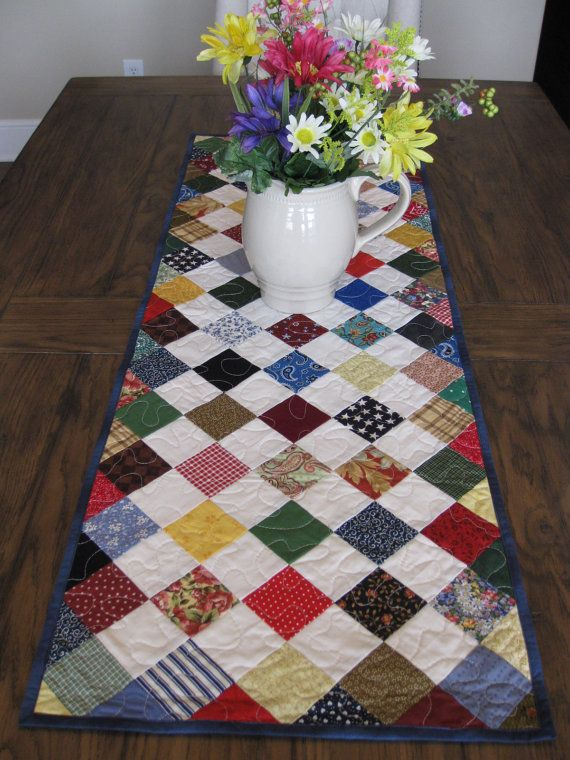 Quilting Table Runner Ideas : 111 best images about quilts-scrappy on Pinterest Quilt ...
