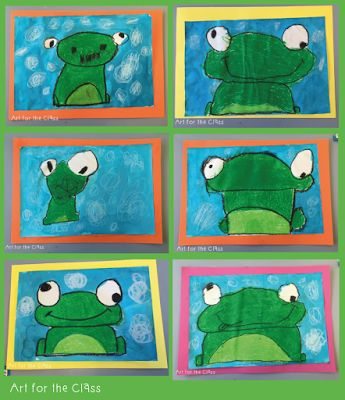 Art for the Class: Frog Art Making- Directed Drawing