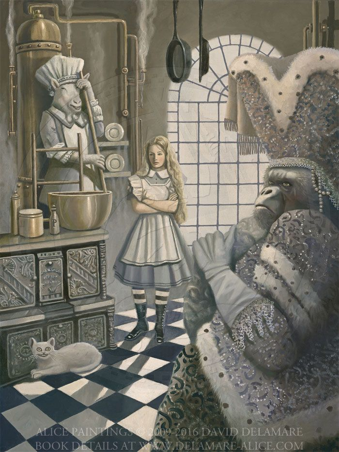 26 best alice in wonderland art  by david delamare  images