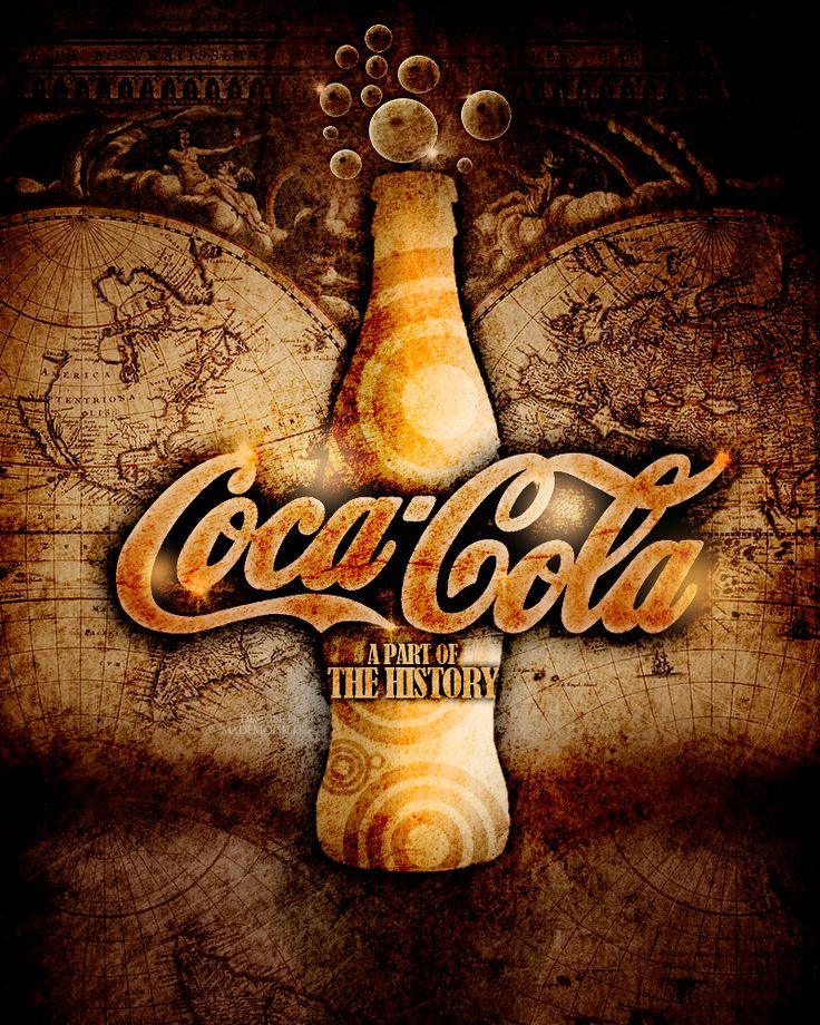 Coca Cola - The History by mademoiselle-art.deviantart.com on @deviantART Fantastic use of colour brown. Gives a vintage arty look to the shapes